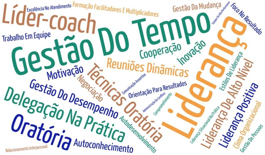 Módulos e temas do programa de desenvolvimento de líderes Catuetê Treinamentos